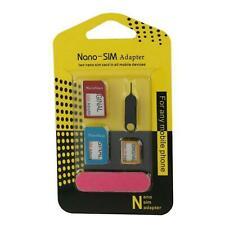 Nano SIM Karten Adapter-Set Micro 5 teilig Universal für Samsung, LG, HTC, Apple