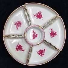 Antique  Herend hand-painted Chinese Bouquet Raspberry w/ 6 nesting Bowl -RARE!!