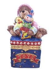 Small Ceramic Teddy Bear Pill Box TOYS Chest Pill Ring Trinket Box