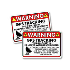"""Golf Cart GPS Tracking Warning Law Enforcement Funny Sticker Decal 2 PACK 5"""""""