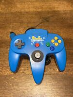 Official Nintendo 64 Pokemon Pikachu Controller N64 Blue Yellow - TESTED WORKING