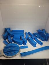 Thomas & Friends Tomy 110 Piece  Blue Train Track & Turntable &2 Blue Connectors