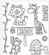 Clear Stamps ZOO - LICIOUS Lion Roar Giraffe Monkey Turtle