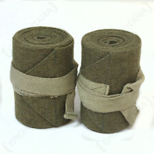 WW2 BRITISH ARMY PUTTEES - Repro Pair Green Wool Wraps Gaiters Uniform Soldier