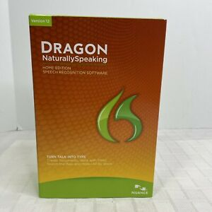 Nuance Dragon Naturally Speaking Version 12 Home Edition Speech Recognition