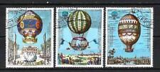 Ballons et Dirigeables Paraguay (15) série complète de 3 timbres oblitérés