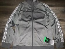 Umbro ~ Kid's Youth Running Jacket Athletic Polyester Gray Gym ~ L (12-14)