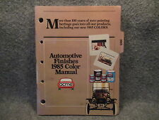 1985 Acme Automotive Finishes Color Manual Guide Book Part Number A-1002-85