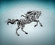 sticker decal car laptop macbook kitchen room horse tribal black bike jdm vinyl