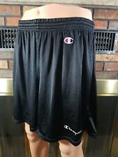 Vintage Champion Spellout C Logo Patch Mesh Black Athletic Shorts Mens Size XXL