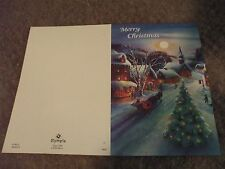 4 Christmas Cards Christmas tree, horse, sleigh by Olympia