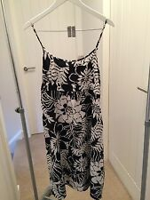 Marks & Spencer Black and White Strappy Cotton Dress.
