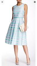 NWT Cynthia Steffe Karolina Sleeveless Sky Striped Popover Fit And Flare Dress 4