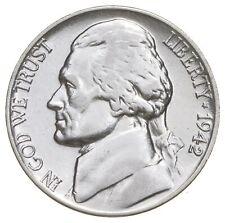 5c BU Unc MS 1942-P Jefferson WARTIME Silver Nickel *662