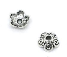 100 Perles calotte Coupelles Caps Fleur Motif 10x4mm