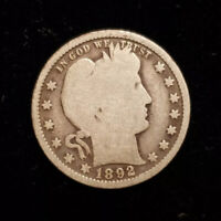 1892 25c - Twenty Five Cent - Barber Quarter - F1619