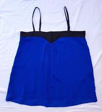 AS NEW ASOS Size 12 Top Singlet Tank Blouse Smock Blue Casual Chic Office Classy