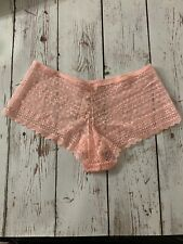 Victorias Secret Lace Shortie Underwear Pink Size  Small New With Tags