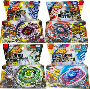 Beyblade Lot of 4 Metal Fusion Set - 4 Takara Tomy Beyblades with Launchers