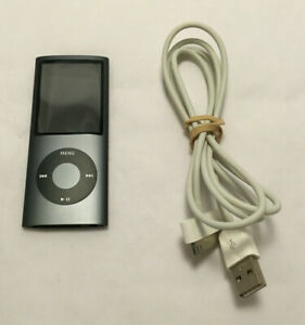 Apple iPod Nano 4th Generation 8GB Black MB754LL w/ USB Charging Cord - Tested