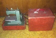 Antique Miniature Betsy Ross Children's Sewing Machine Electric Model 707 Case