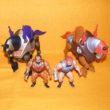 VINTAGE 1983 MATTEL MOTU HE-MAN STRIDOR NIGHT STALKER JITSU FISTO FIGURES LOT