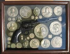 Coins (revolver) of Tsarist Russia. Copies, in a frame with glass, 38 HANDMADE