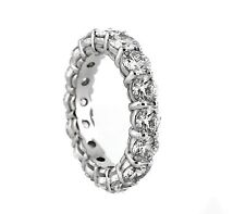 4.61 CT Natural Round Brilliant Diamond Lady's Eternity Band VS1/F14K White Gold