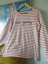 Womens Boden long red striped TRE'S GROOVY long sleeved top . Size 10 Immaculate