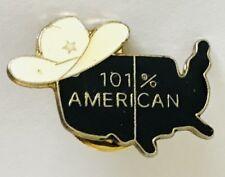 Texas 100% American Ten Gallon Hat Pin Badge Brooch Vintage (C11)