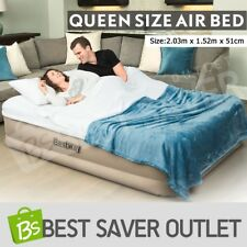 Bestway Queen Air Bed Inflatable Blow Up Mattress w/Built-in Pump & Travel Bag