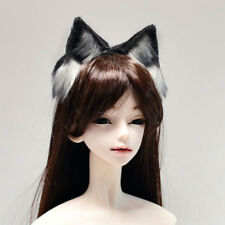 Dollmore 1/3 1/4 1/6 BJD Accessories Headwear Animals Ears Wolf Black/Light Grey