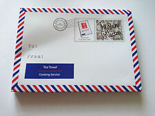 First Class Chef TEA TOWEL Postage Stamp GIFT Airmail LETTER Box 50x70cm COTTON