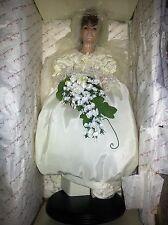 "Princess Diana 19"" Porcelain Bride Royal Wedding Doll DANBURY MINT MIB NEW"