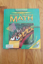 PRENTICE HALL MIDDLE GRADES MATH HOMESCHOOL TEACHER'S BOOK ISBN # 0-13-434688-2