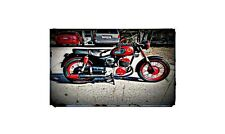 1966 sears allstate Bike Motorcycle A4 Photo Poster