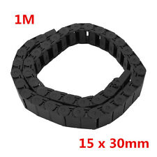 "1M 40"" Nylon Cable Drag Chain Towline Wire Carrier 15x 30mm For CNC Machine xxx"