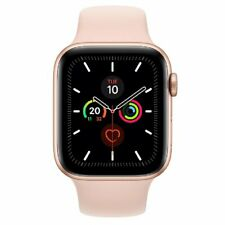 Apple Watch Series 5 GPS 44mm MWVE2 Gold Aluminum Caja Rosa Sport Band