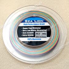 New Sea Lion 100% Dyneema Spectra Braid Fishing Line 300M 30Lb Multi Color