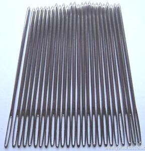25 Tapestry Nickel Plated Needles Without Point Choose Sizes 16, 18, 20, 22, 26