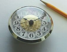 """CLOCK FIT UP FANCY Gold & White Dial, Arabic numbers, 2 3/4"""""""" dia, (#273) NEW"""