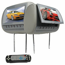 """MAY SALE 2xUniversal 9"""" Car Headrest Monitor  DVD Player SD USB 3Color"""