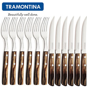 TRAMONTINA ® Steakbesteck Pizza Besteckset 12tlg. Grillbesteck Churrasco