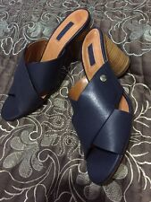 BNWT TOPSHOP Native Heeled Mule Shoes NAVY UK 8/41