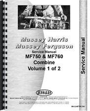 Massey Ferguson 750 760 Combine Service Manual (MH-S-MF750,760)