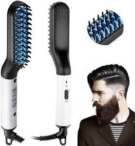 Electric Beard Hair Straightener Quick Heated Brush Straightening Comb Boxed