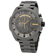 Diesel Mega Chief Chronograph Grey Dial Mens Watch DZ4466