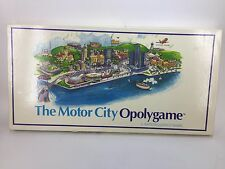 The Motor City Opolygame Vintage 1990 Detroit Michigan Board Game City Monopoly
