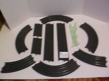 tyco slot car track parts lot ho 1/64 scale nice condition straights corners