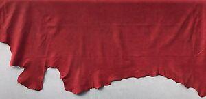 Lederhaut Rindleder geschliffen weich matt Nubuk Rot 6,39 qm